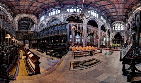 Panoramic view of inside the Cathedral